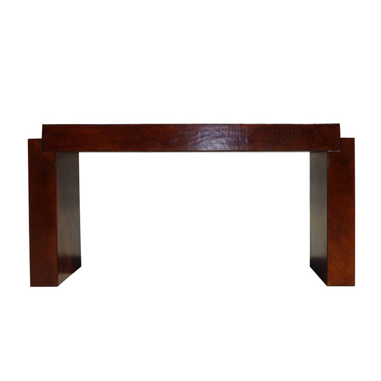 Leather architectural console by jett knight at stdibs