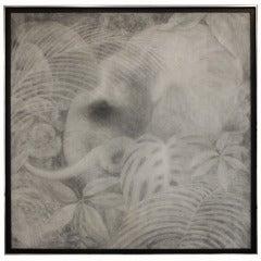 Monochrome Elephant Painting By Joseph L. Klein III