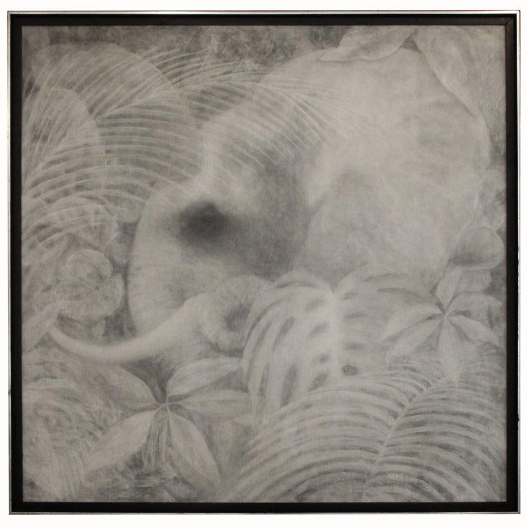 Monochrome Elephant Painting By Joseph L. Klein III 1