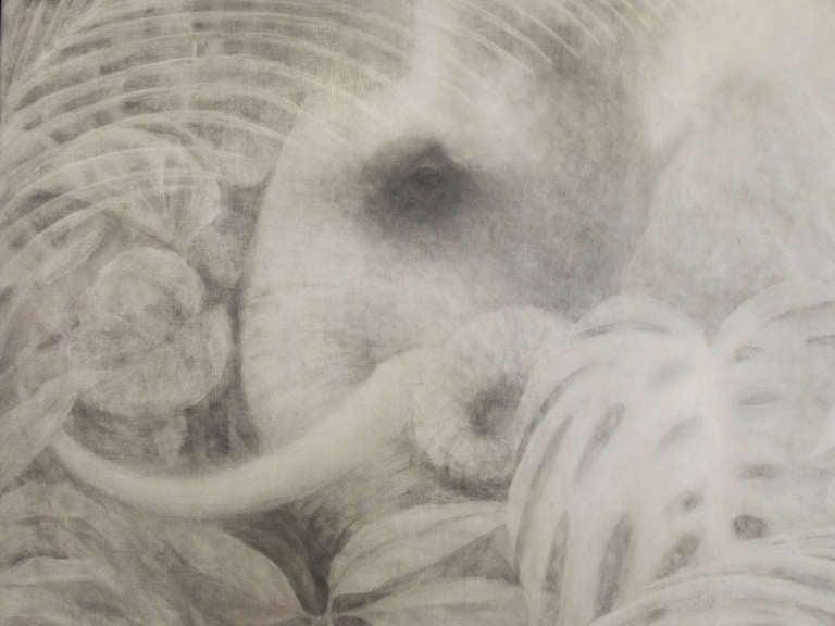 Monochrome Elephant Painting By Joseph L. Klein III 2