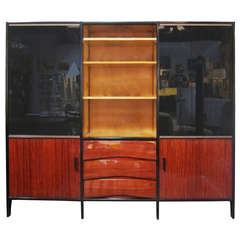 Mid-Century French Bookshelf in Mahogany by Meubles Minvielle