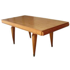 French Mid-Century Dining Table Attributed to Jean Pascaud