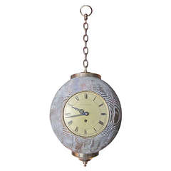 Unusual German  Hanging Clock by Lester Fields Co