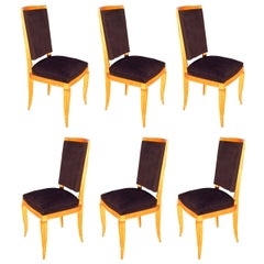 French 1940s Dining Chairs by Maurice Jallot, Set of Six