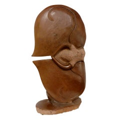 African Biomorphic Marble Sculpture