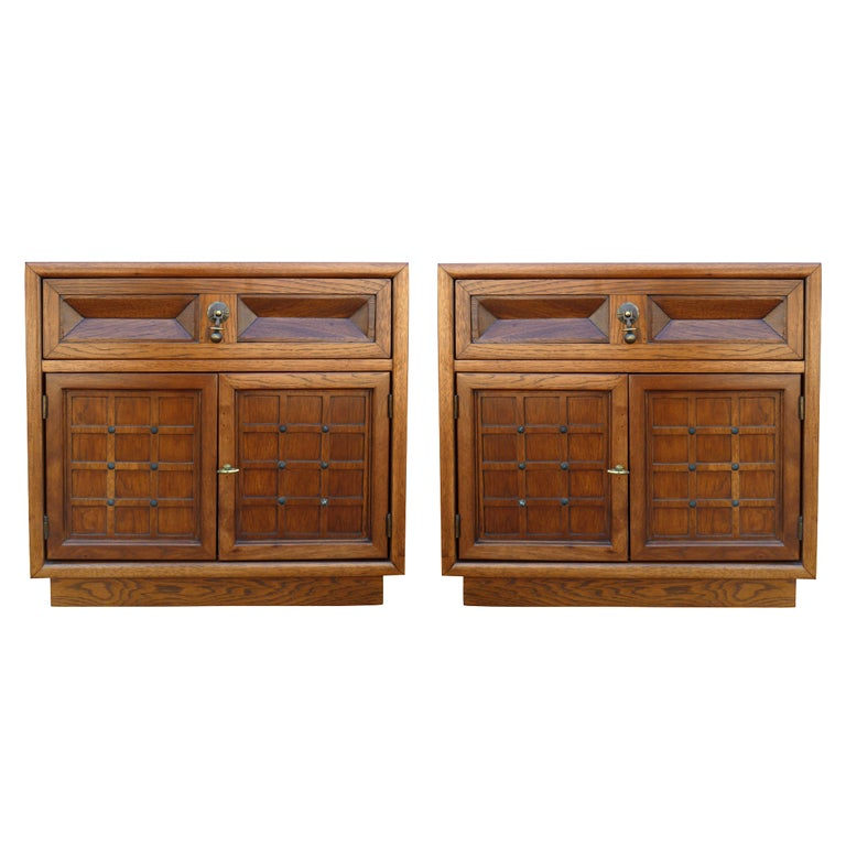 Walnut nightstands by american of martinsville pair at for Vintage american martinsville bedroom furniture