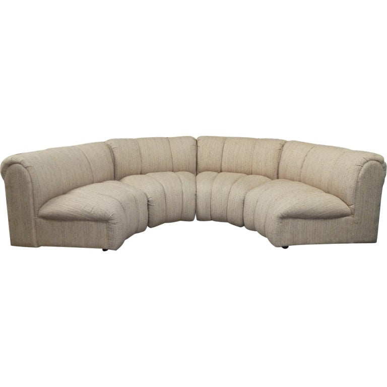 Four piece modular sectional at 1stdibs for Separate sectional sofa pieces