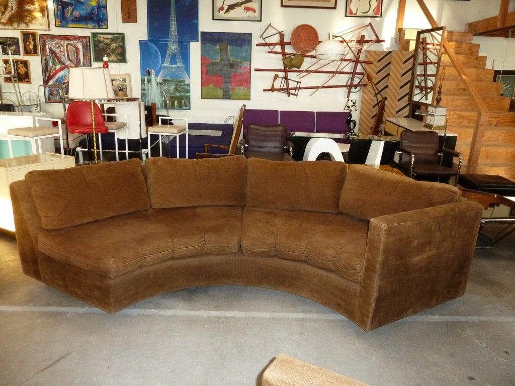 Crescent Shaped Modular Sectional Sofa Att To Milo