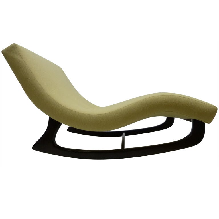 Sculptural rocking chaise longue by adrian pearsall at 1stdibs for Adrian pearsall rocking chaise
