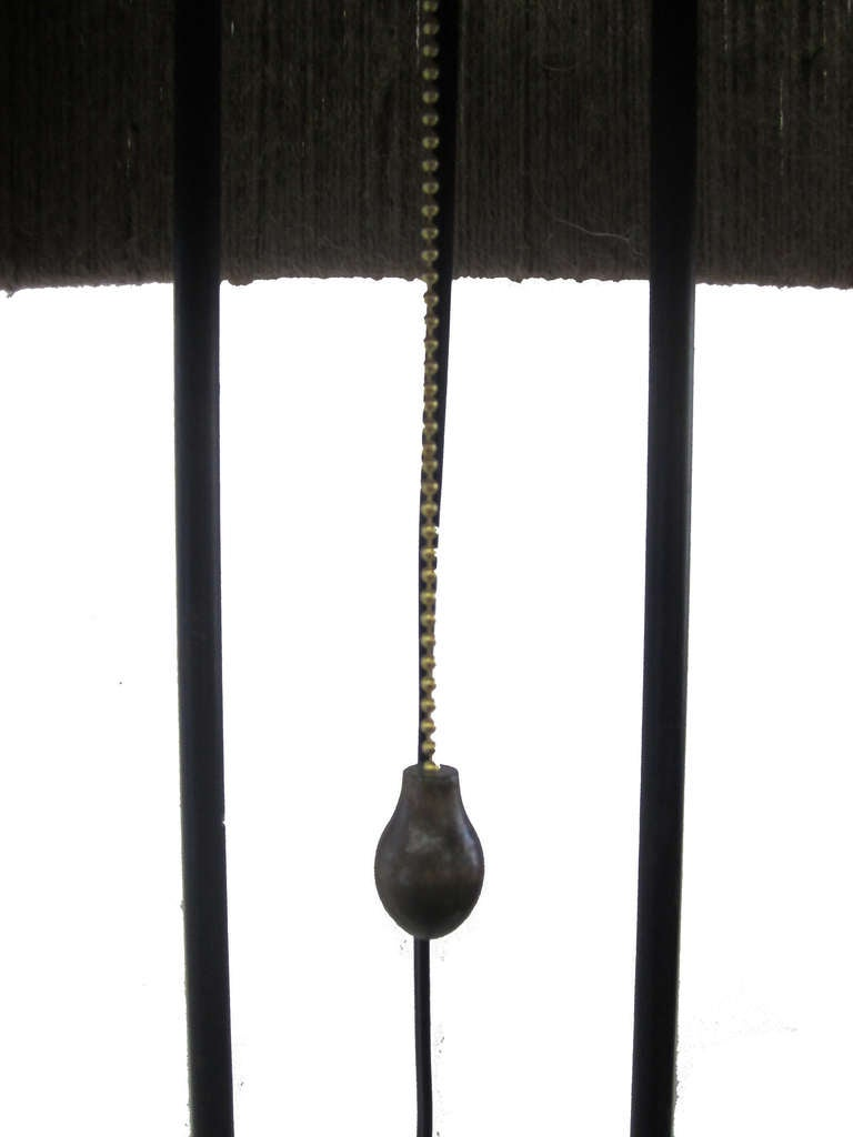 French 1950s Floor Lamp With Wrapped Yarn Shade At 1stdibs
