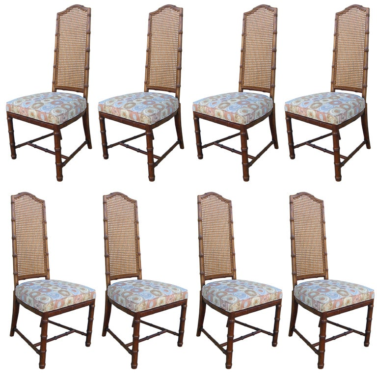 set of dining chairs by henredon at 1stdibs