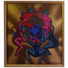 """Cash Dance"" Lithograph by Kostabi"
