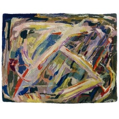 Mid-Century Abstract Expressionist Tapestry by Miripolsky