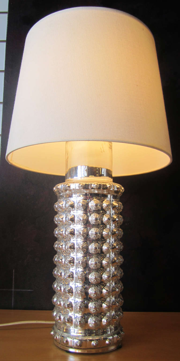 Pair Of Mercury Glass Lamps By Helena Tynell For Luxus For Sale At 1stdibs