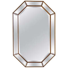 Elegant Octagonal Beveled Mirror