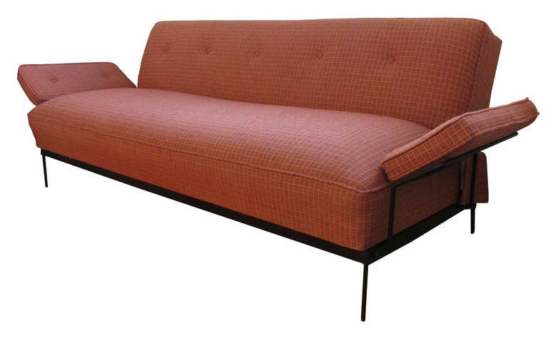 American Mid Century Modern Convertible Sofa Bed For Sale