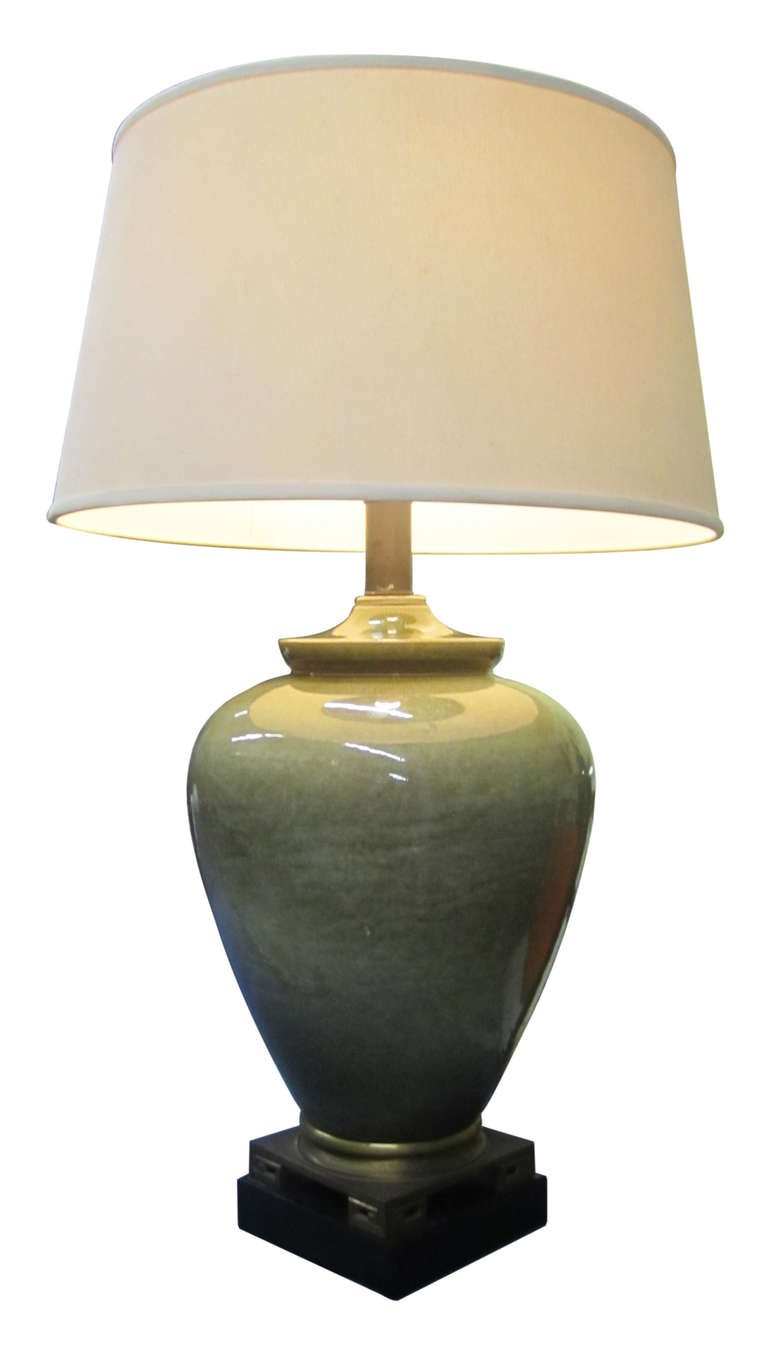 31 ceramic table lamp with gold base traditional handmade table light