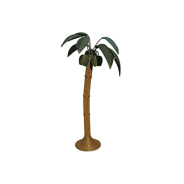 this palm tree floor lamp in rattan and bamboo is no longer available. Black Bedroom Furniture Sets. Home Design Ideas