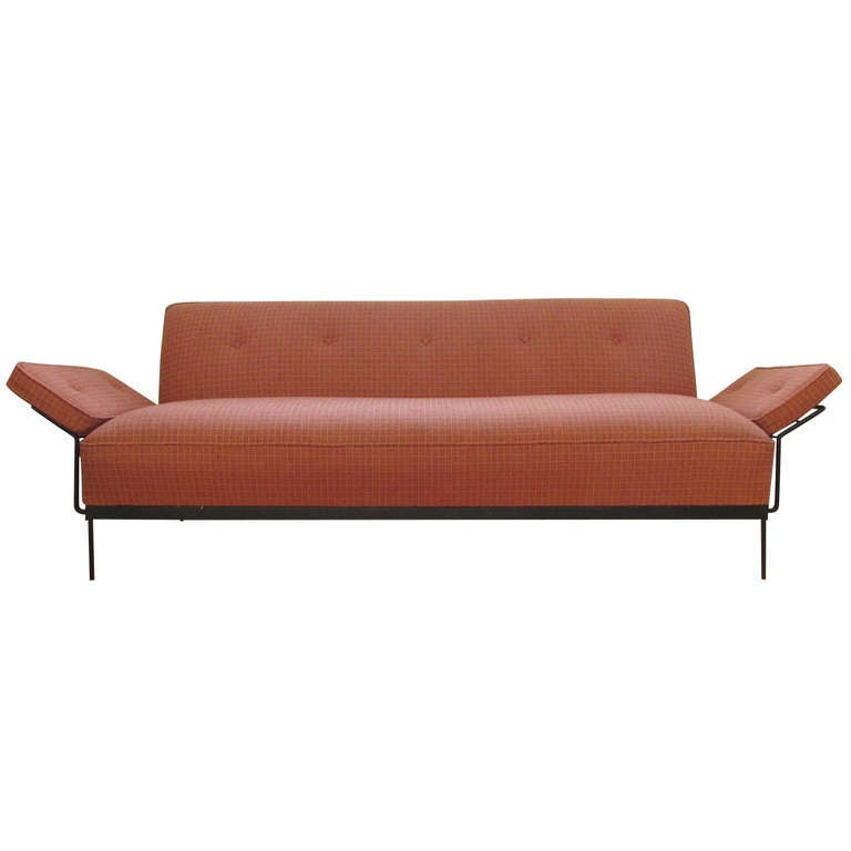 Mid century modern convertible sofa bed at 1stdibs for Contemporary convertible sofa bed