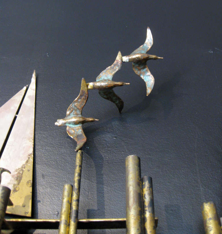Nautical Metal Wall Sculpture By Curtis Jere At 1stdibs