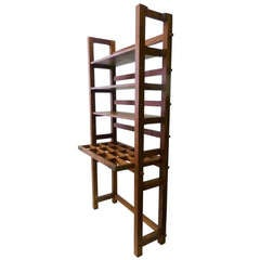 Craftsman-Style Bookshelf with Desk