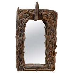 Distress Wood Wall Mirror
