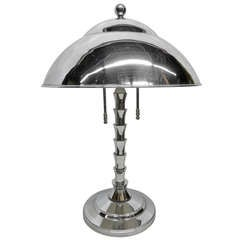 Jay Spectre Chrome Table Lamp for Paul Hanson