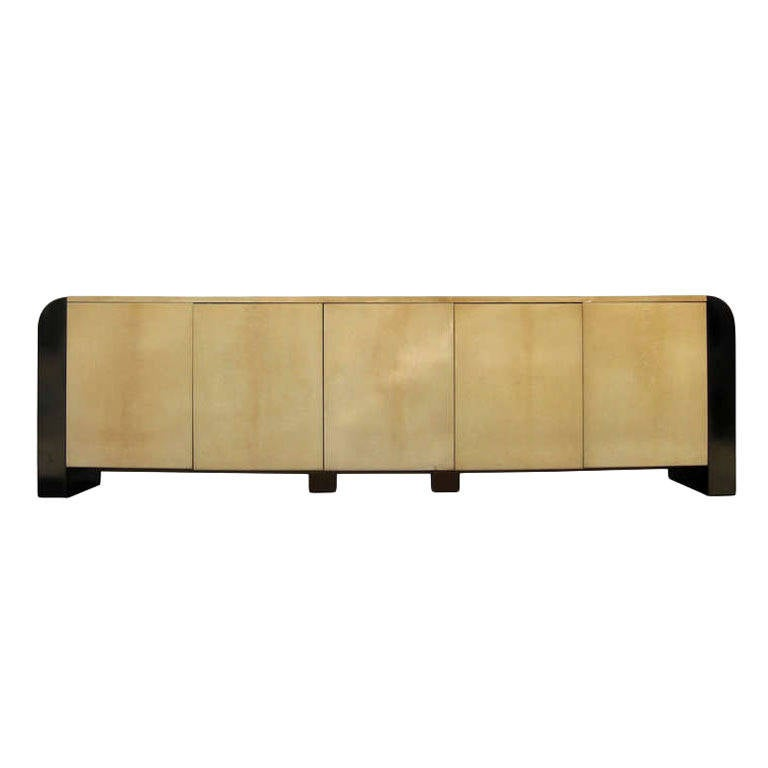 Nine Foot Long Italian Credenza by Aldo Tura 1