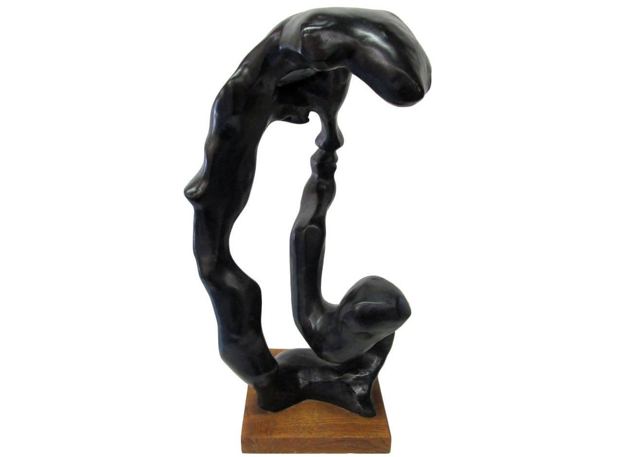 American Minimal Sculpture of a Female Head by Klara Sever