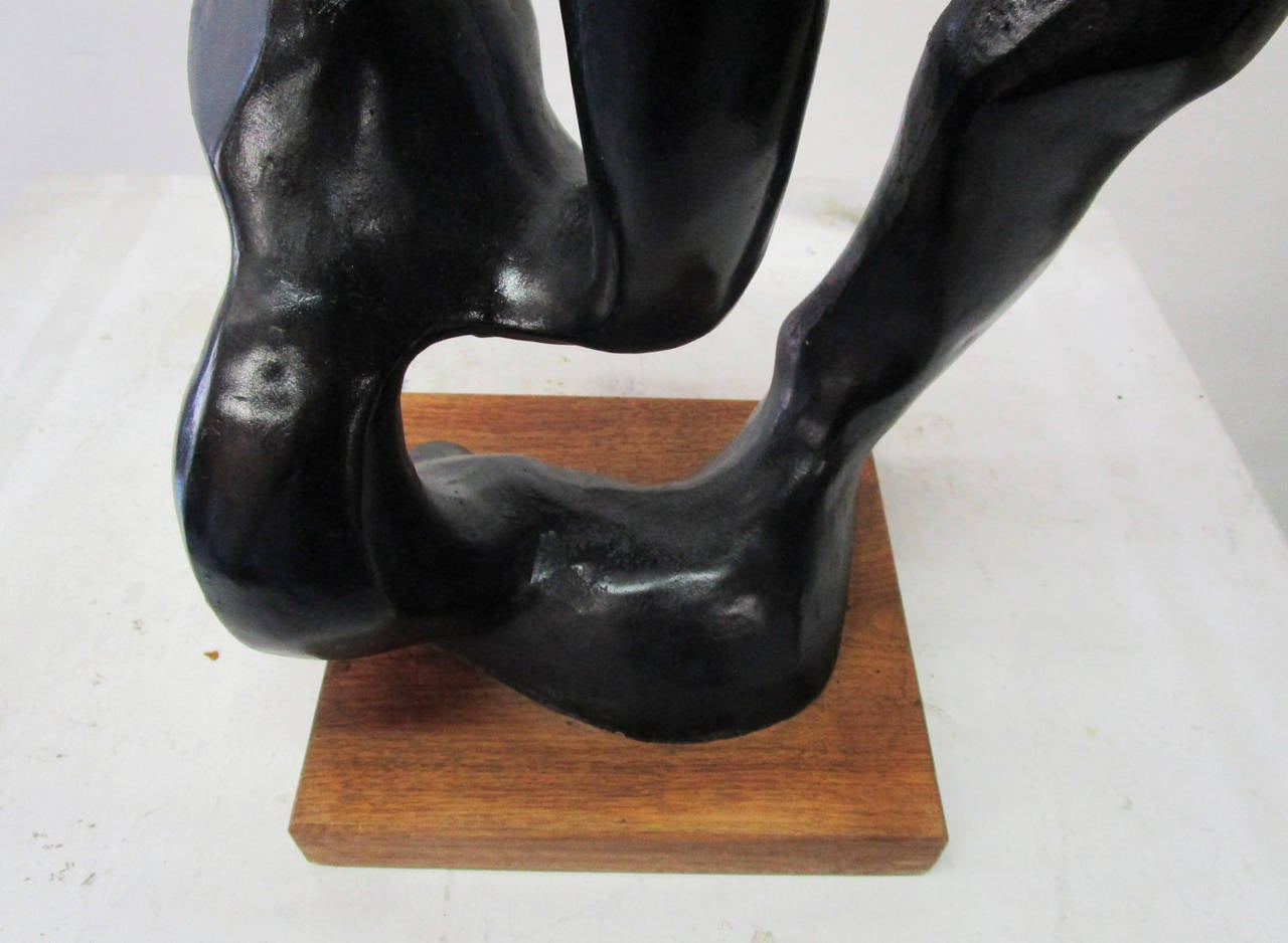 Plaster Minimal Sculpture of a Female Head by Klara Sever