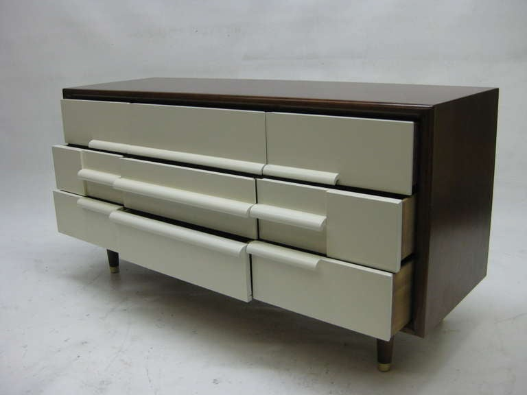 American Mid-Century Nine Drawer Dresser by Furniture Guild of California