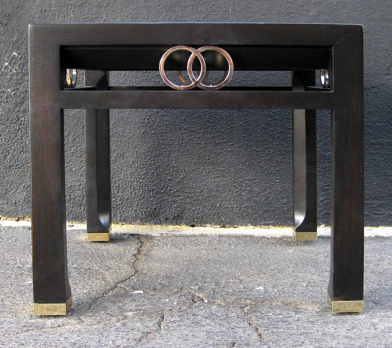 American Elegant Pair of Side Tables by Michael Taylor for Baker For Sale