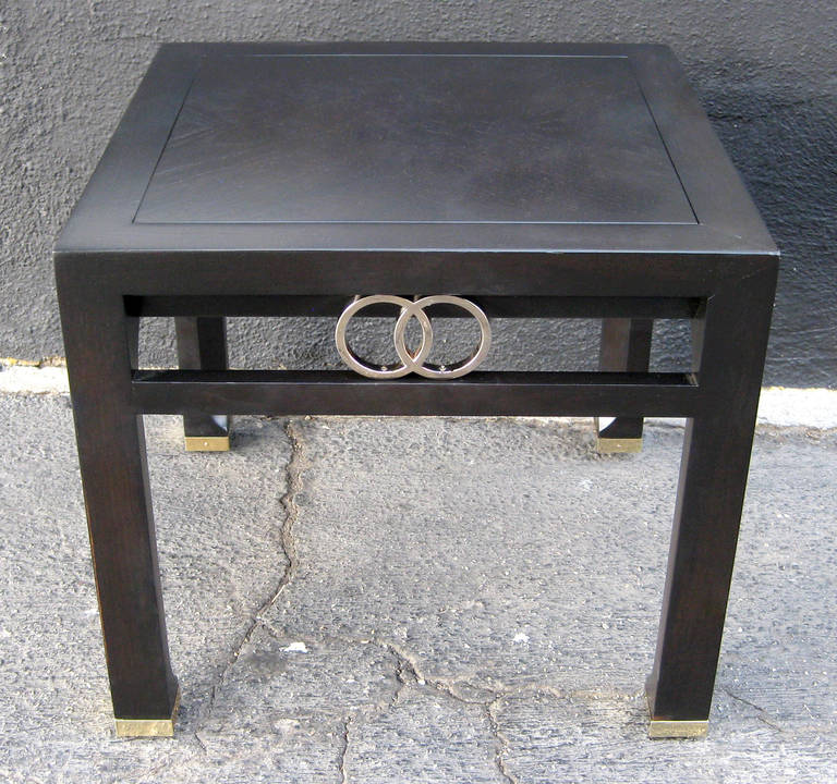 Elegant Pair of Side Tables by Michael Taylor for Baker In Excellent Condition For Sale In Los Angeles, CA