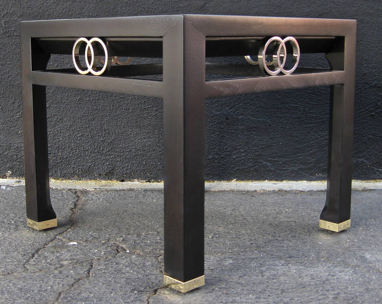 Mid-Century Modern Elegant Pair of Side Tables by Michael Taylor for Baker For Sale