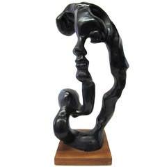 Minimal Sculpture of a Female Head by Klara Sever