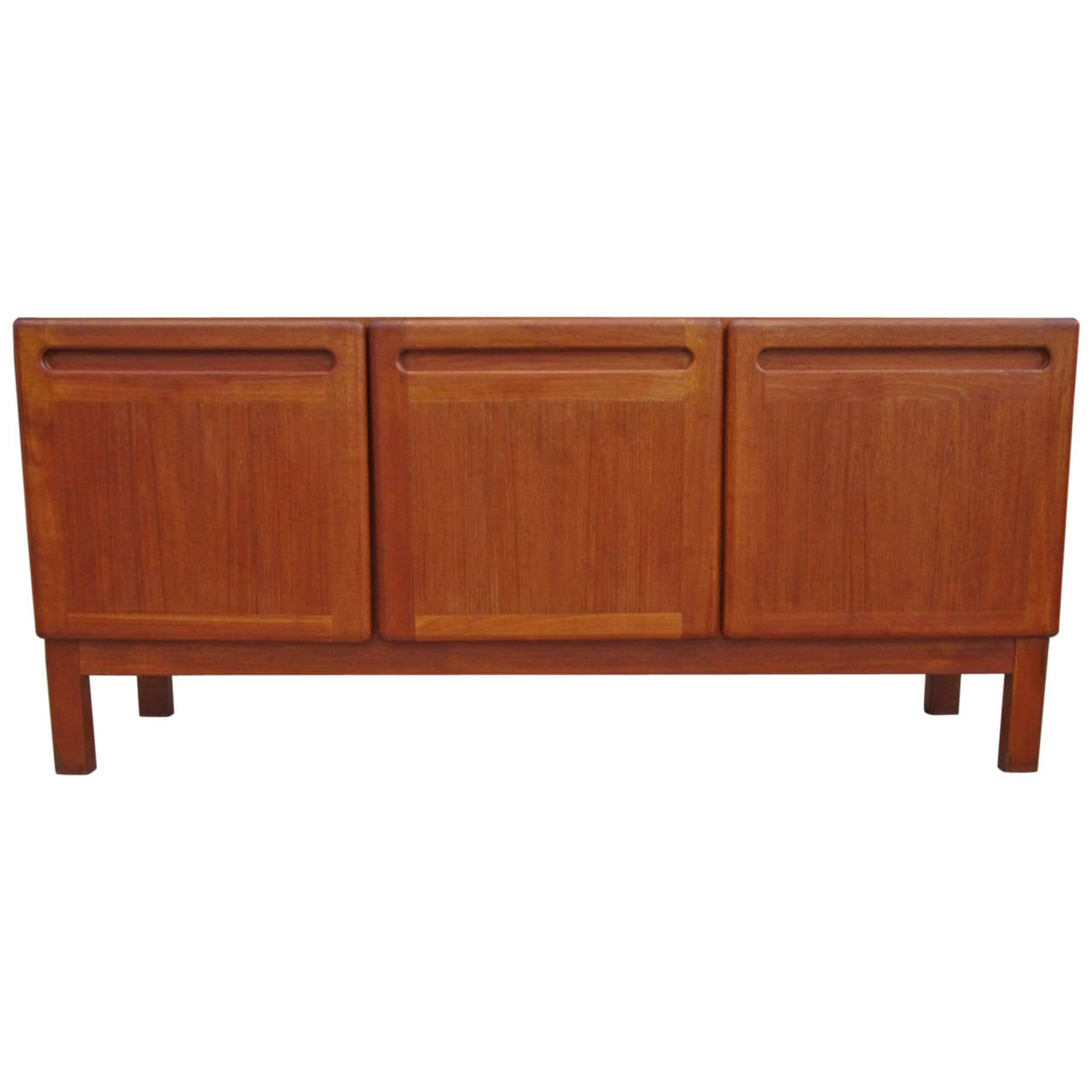 danish teak mid century sideboard at 1stdibs. Black Bedroom Furniture Sets. Home Design Ideas