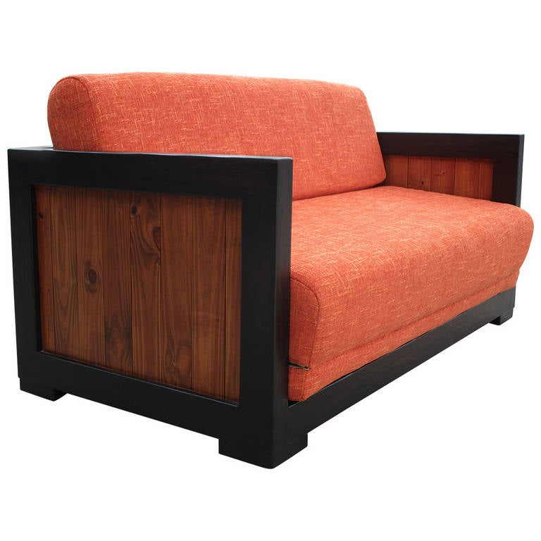 mid century modern pull out sofa bed at 1stdibs