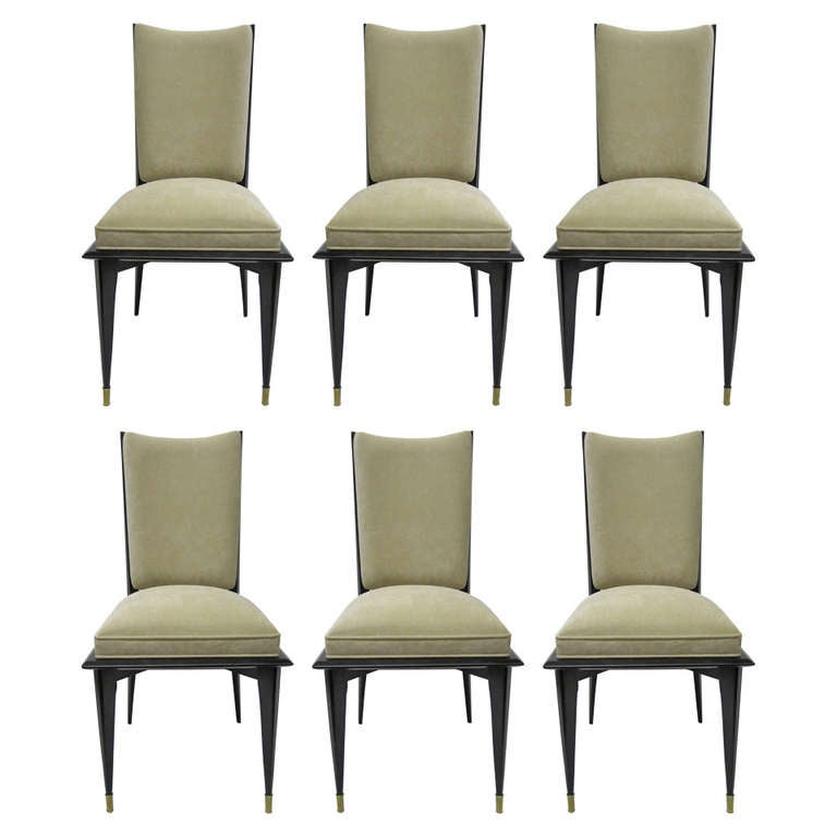 Elegant French Dining Chairs Set of Six at 1stdibs
