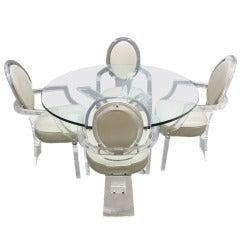 Lucite Dining Set by Charles Hollis Jones
