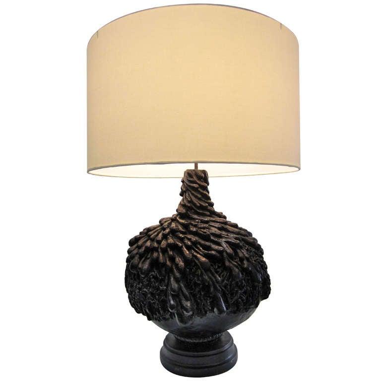 unique mid century ceramic table lamp at 1stdibs