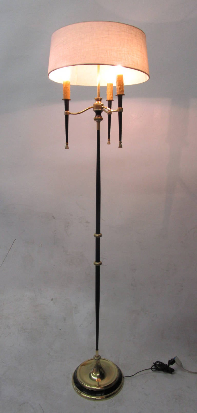 French 1950s floor lamp for sale at 1stdibs for White french floor lamp