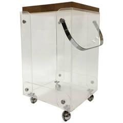 Rare Plexiglass Bar Cart Workstation