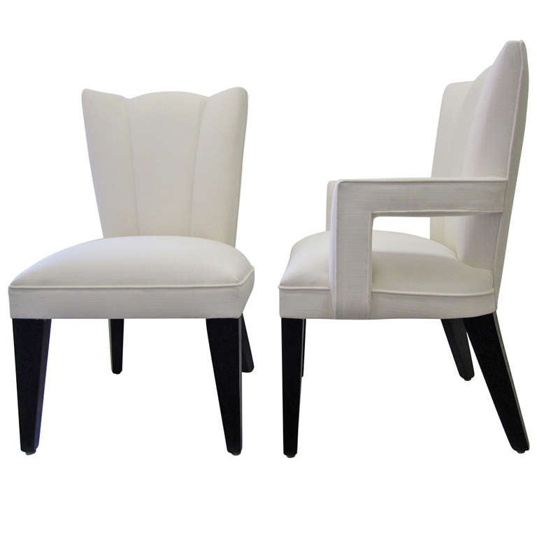 Hollywood Regency Dining Chairs, Set of Six at 1stdibs