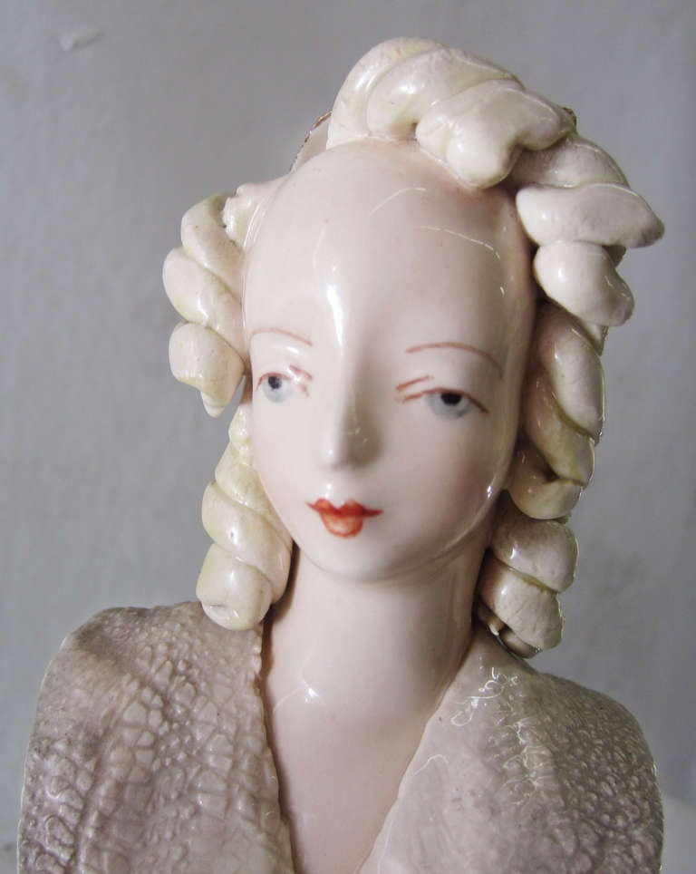Porcelain Bust Of Victorian Lady By Cordey At 1stdibs