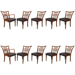 Paul Frankl Set of Six Plus Four Dining Room Chairs