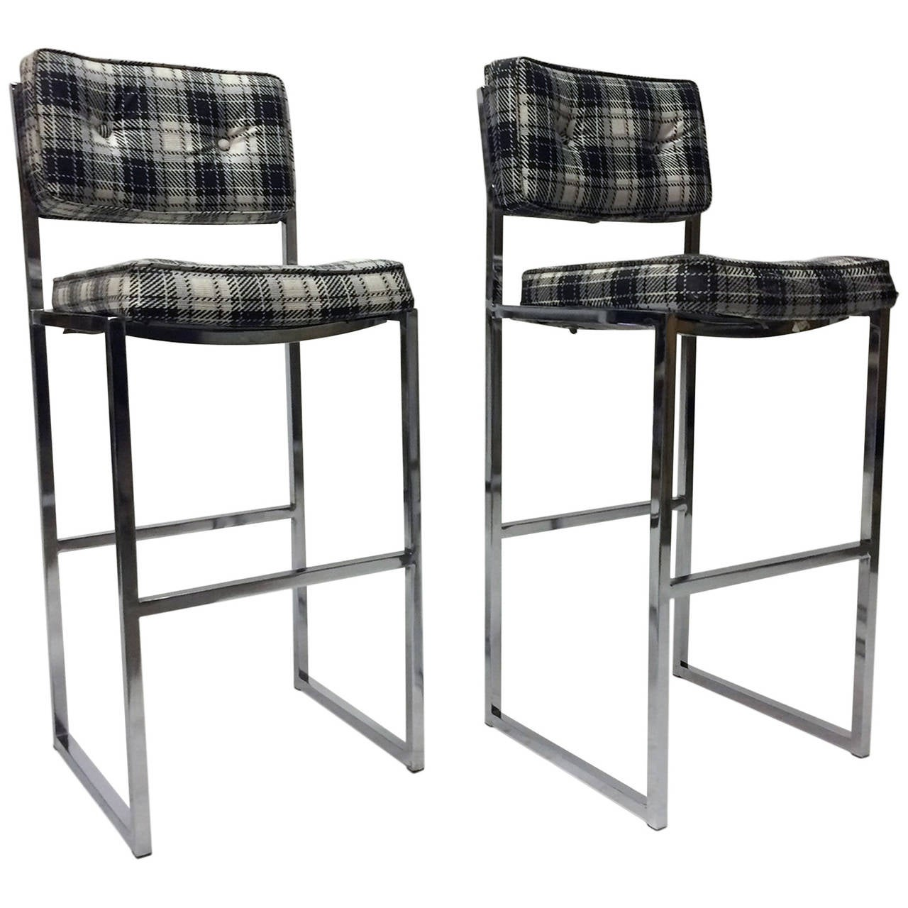 Midcentury Chromcraft Bar Stools At 1stdibs