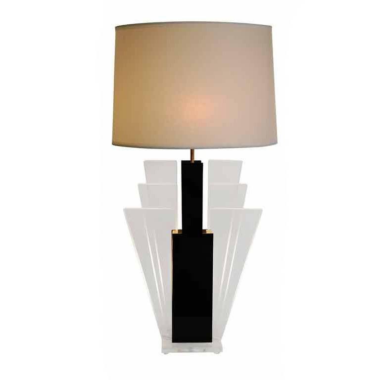 Elegant Lucite and Plexiglass Lamps