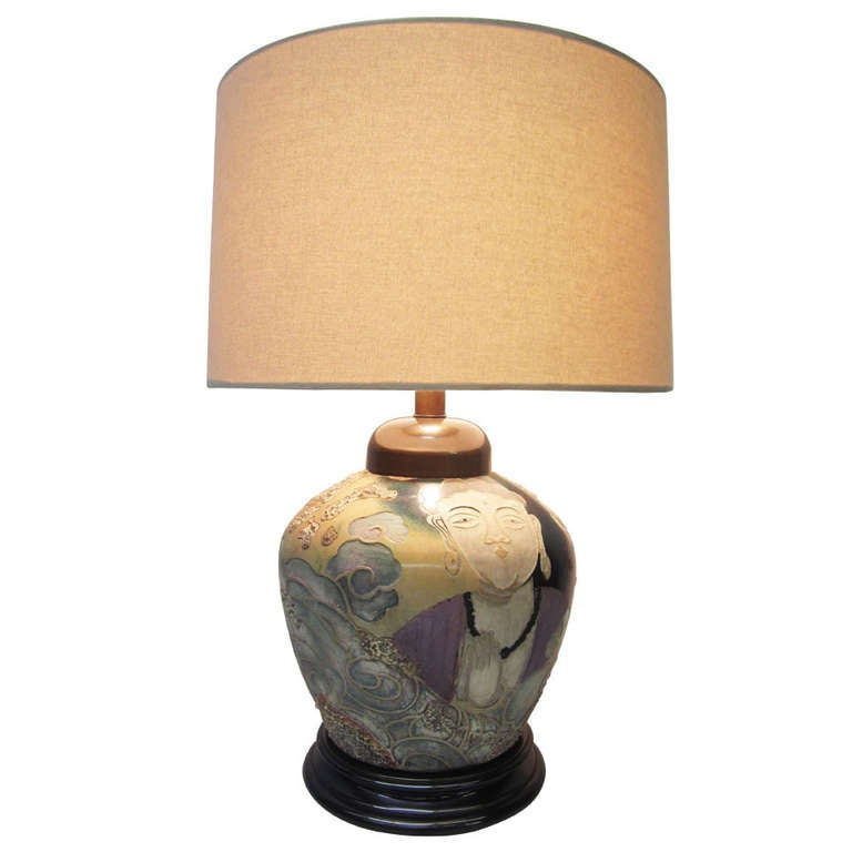 Asian Influence Lamp By Frederick Cooper For Sale At 1stdibs