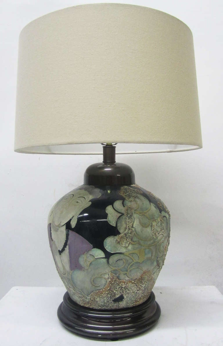American Asian Influence Lamp By Frederick Cooper For Sale