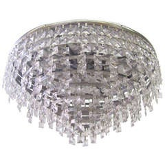 Impressive 1970s Glass Ceiling Lamp